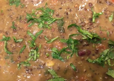 Mah Daal (Kidney beans and whole urad daal)